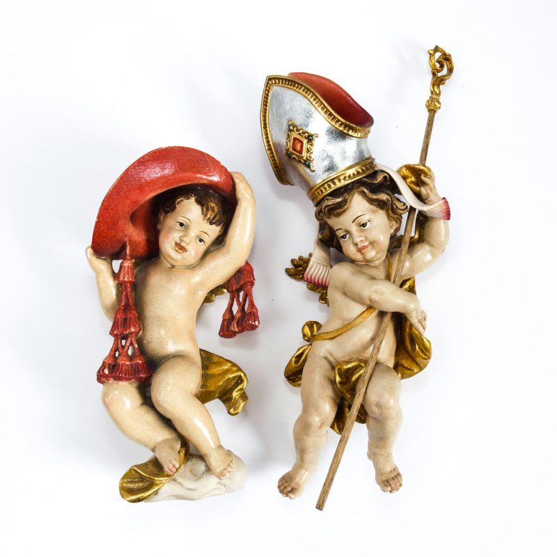 ANRI ART NOUVEAU WOODEN ANGELS - Lot 500 of the July Auction