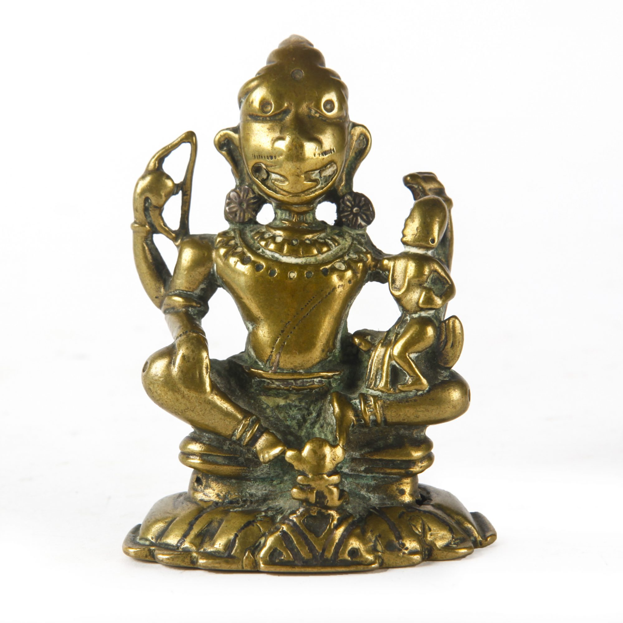 12TH CENTURY INDIA BRONZE FIGURE OF NARASIMHA