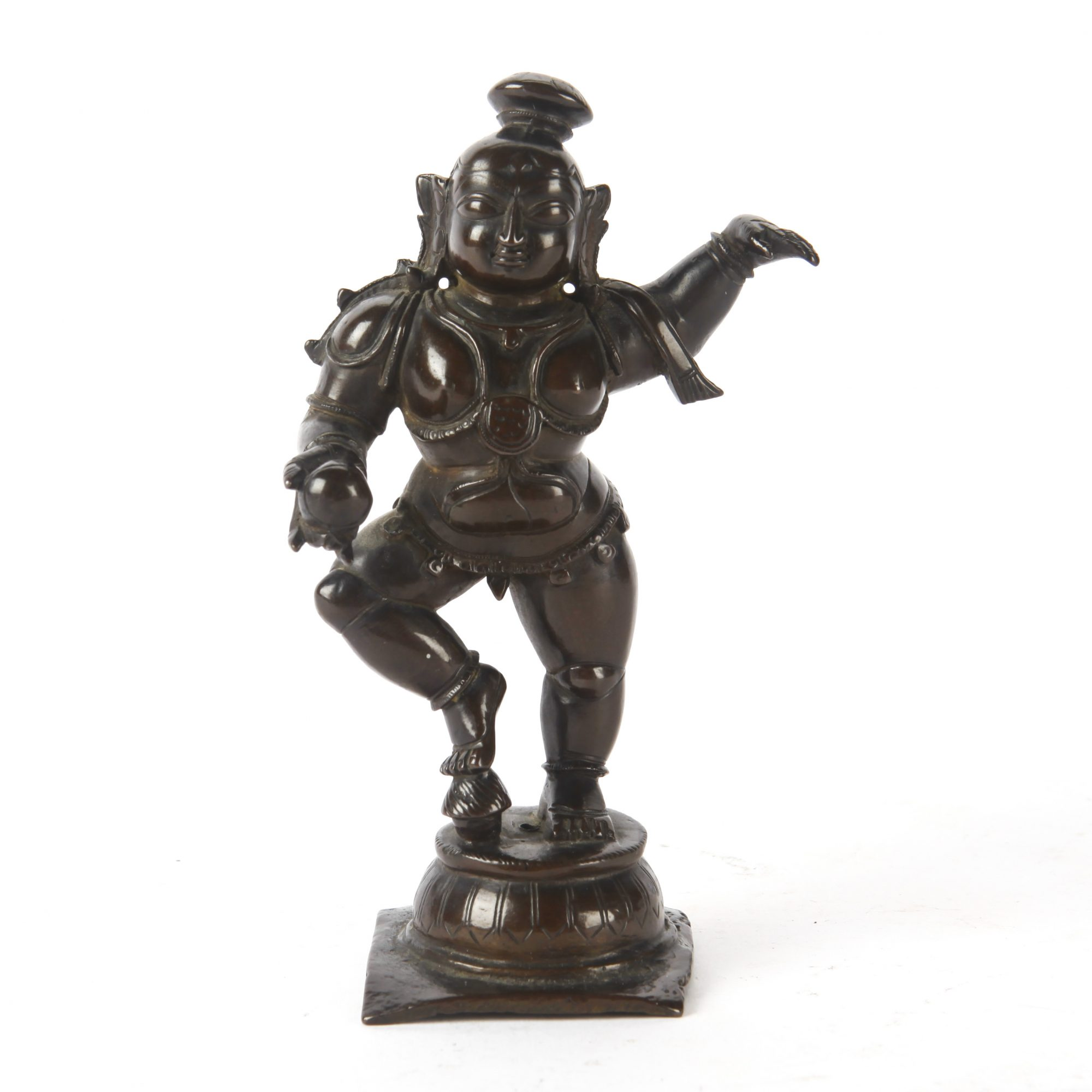 17TH CENTURY COPPER ALLOY BABY KRISHNA, NAYAK DYNASTY